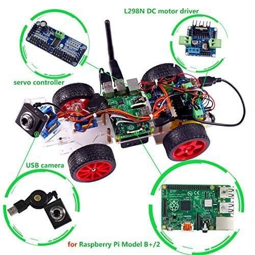 Best Raspberry Pi Robot Kits on 12v dc motor driver
