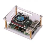 JBtek Transparent Acrylic Raspberry Pi Case with Fan