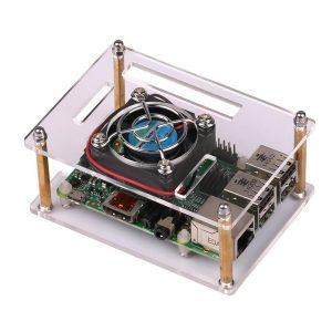 JBtek Transparent Acrylic Raspberry Pi Case with Fan