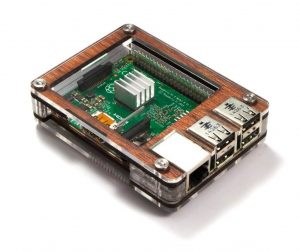 Zebra Wooden Raspberry Pi Case from C4 Labs
