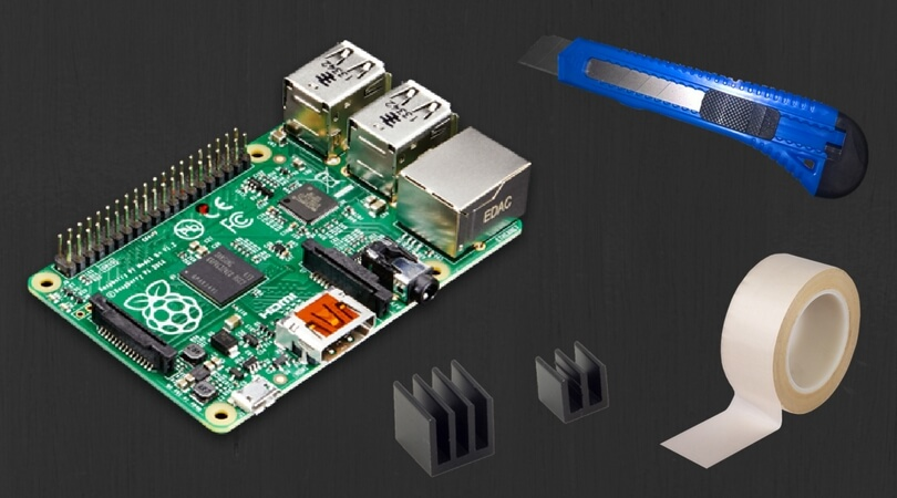 Things you will need for the Raspberry Pi 3 heatsink installation