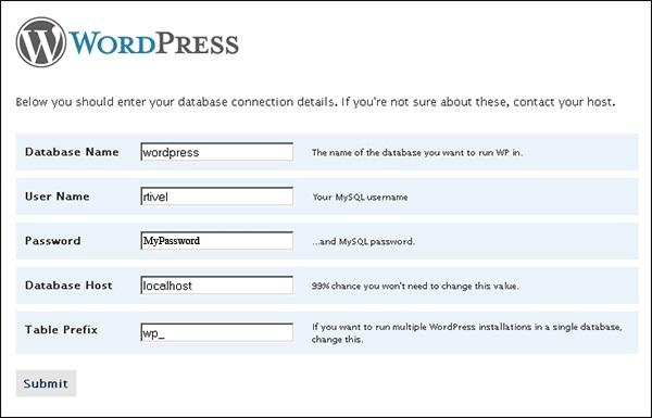 WordPress Database Setup & Configuration..