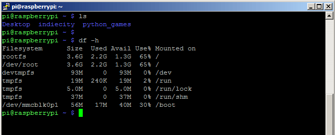Open the Raspberry Pi command prompt